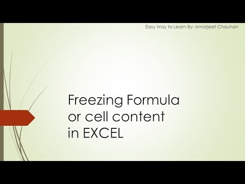 How to freeze Formula in excel (Easy Way)