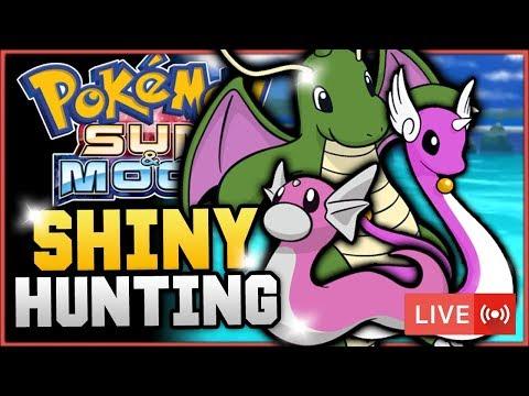 Pokémon Sun & Moon LIVE Shiny Hunting! Hunting For Shiny Dratini, Dragonair & Dragonite! w/ HDvee