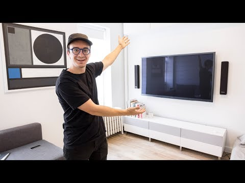Mounting our TV and running cables in wall (How to)