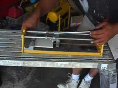 How to cut tile with a tile saw