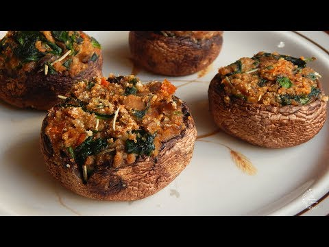 Easy Stuffed Mushrooms Recipe | Side Dish Recipes | The Sweetest Journey