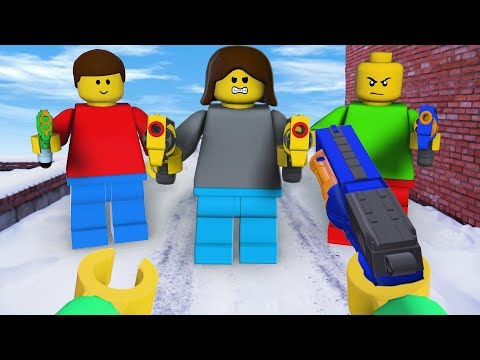 LEGO meets NERF: First Person Shooter