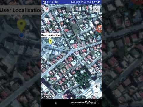 Aplication Android (latitude, la longitude , l'emplacement sur la carte , et  boussole)