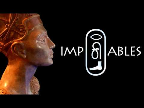 Improbable Queen.  Ancient Egyptian inspired paper clay sculpture.