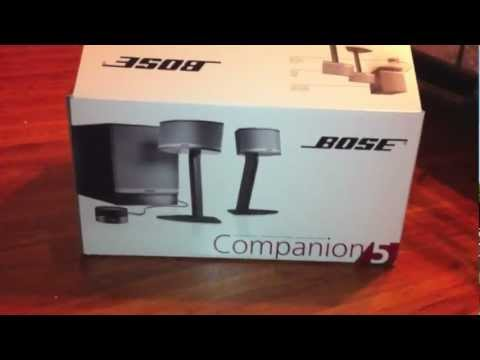 Bose Companion 5 Speaker System Unboxing
