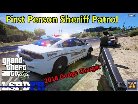Los Santos Sheriff First Person POV Patrol in a 2018 Dodge Charger   GTA 5 LSPDFR Episode 323