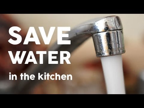 Save water in the kitchen
