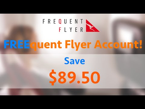 Use this SECRET LINK To Get A FREE Qantas Frequent Flyer Account!!