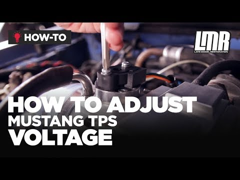 Mustang TPS Install - How To Adjust Throttle Position Sensor Voltage