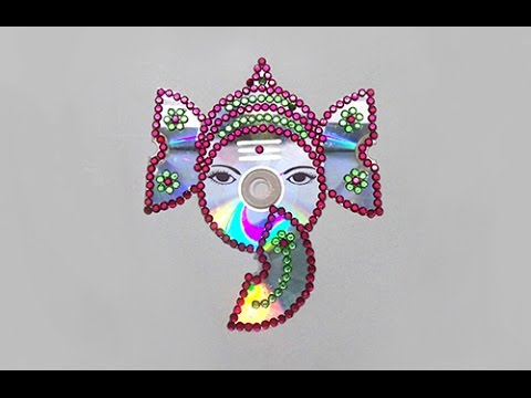 How to Make Lord Ganesh With Waste CD's - Step by Step Tutorials