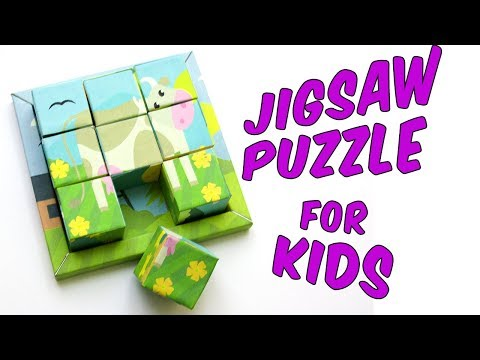 How to make a Jigsaw puzzle of cardboard cubes   DIY