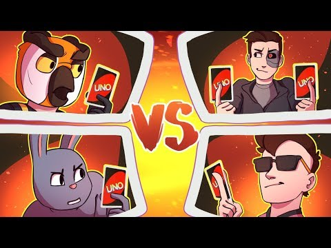 The Ultimate Uno Team Battle! - Moo & Terroriser vs Vanoss & Ohmwrecker