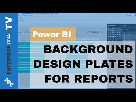 Create Background Design Plates For Your Power BI Reports