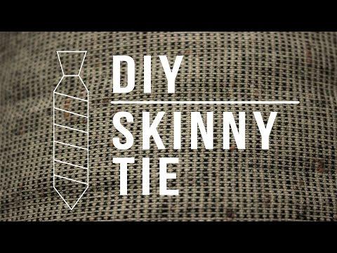 DIY Skinny Tie | Sew Anastasia
