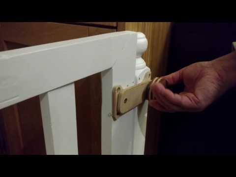 Baby gate diy wooden latch with lock - ξύλινο πόμολο ασφαλείας για πορτάκι