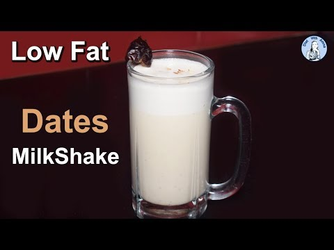 Low Fat Dates Milkshake | Weight Loss Smoothie Recipe | Diet With Amna