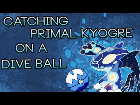 Pokemon Alpha Sapphire | Catching Primal Kyogre on a Dive Ball!!