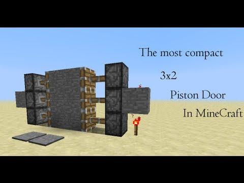 Minecraft:Most Compact 2x3 Piston Door
