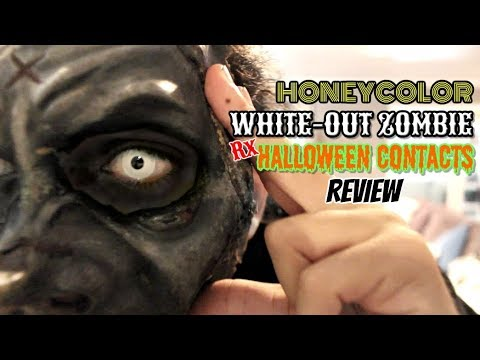 HONEYCOLOR | Halloween Zombie White-Out/Intense White Rx Lenses (REVIEW)