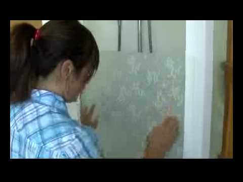 installing frosting film to shower