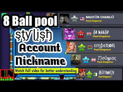 Stylish fonts used in miniclip account nickname || 8 ball pool || Miniclip || hooowwwww???