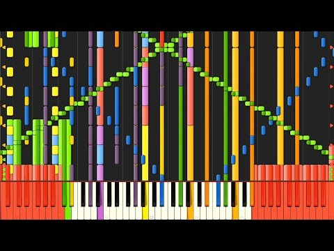 [Black MIDI] Synthesia – Fall of Fall ~ Autumnal Waterfall 100,000 notes ~ BusiedGem