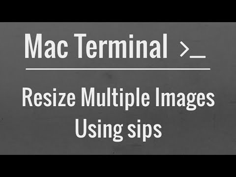 Easily Resize Multiple Images Using the Mac Terminal