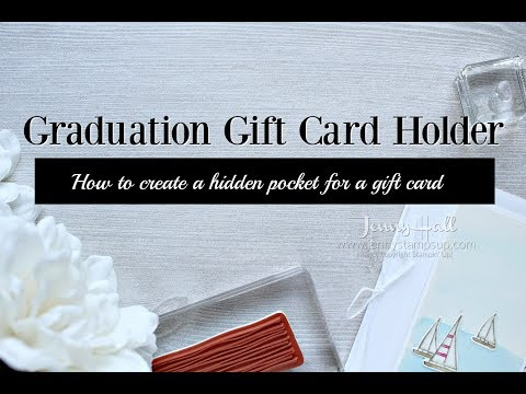 How to create a hidden pocket for a gift card using Stampin Up products with Jenny Hall
