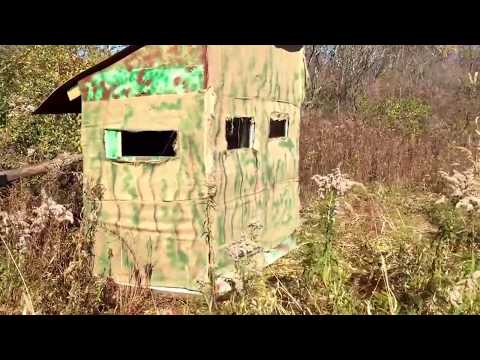 Cheap Hunting blind made from roadside pallets