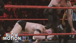 Stunning slow-motion footage of Seth Rollins finishing off Finn Bálor: Exclusive, Jan. 18, 2018
