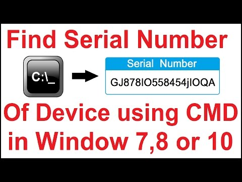 Find Serial Number of Your PC Using CMD in Windows 7,8 or 10