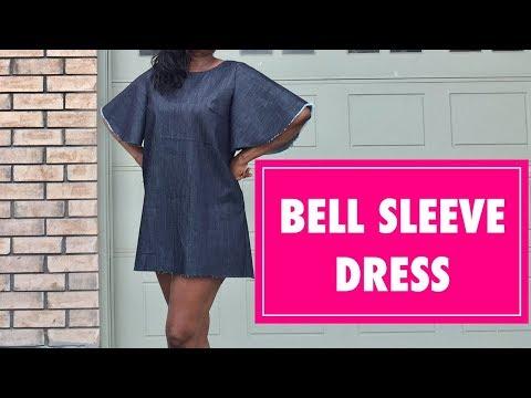 BELL SLEEVE DRESS DIY - Beginner Sewing - PrettyTallLifeTV