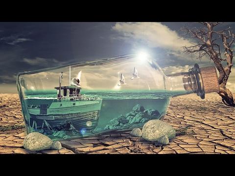 underwater effect in bottle   photoshop manipulation tutorial cs6/cc