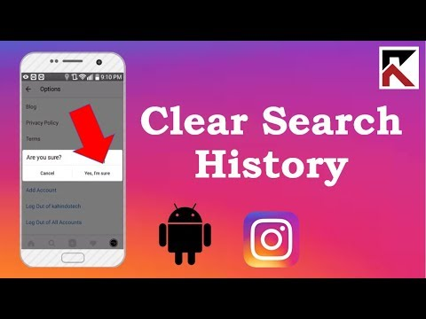 How To Clear Search History Instagram Android 2018