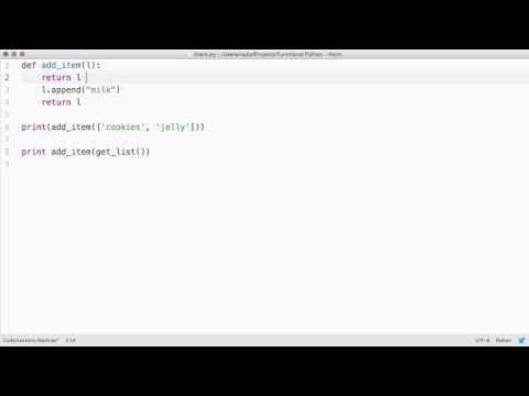 Functional Programming with Python | Modifying Data Structures