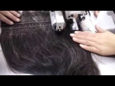Human hair before hair dye sewing machine (to prevent shedding hair dyeing process entangled)