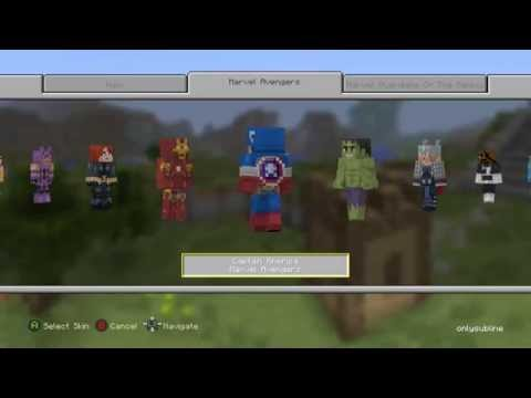 Marvel Avengers skin pack Minecraft Xbox One Edition