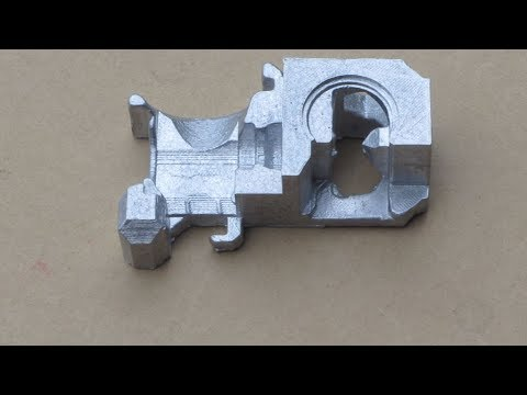 Metal Casting at Home Part 77 Lost PLA/Greensand Casting for the Myfordboy 3D Printer