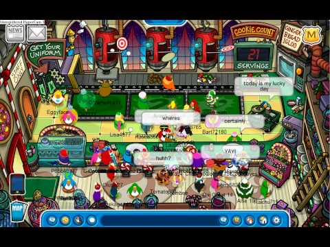 Club Penguin: Meeting Rockhopper and Aunt Arctic 1st Day