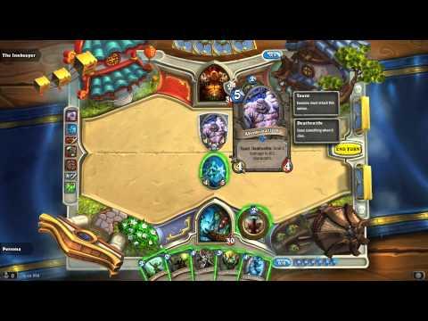 HearthStone Heroes of Warcraft - Shaman vs Warrior (Practice Expert)