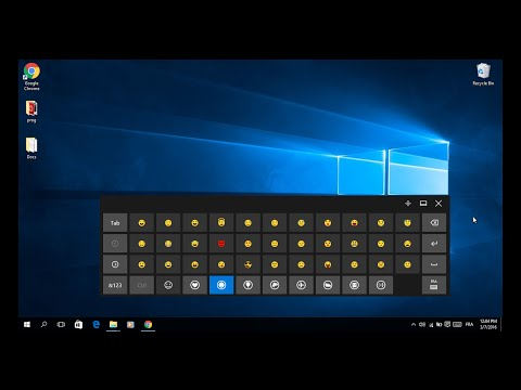 how to use clavier Emoji emoticons on windows 10 ?