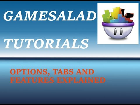 Game Salad Tutorial - Options Tabs and Features - Ep #2  (Windows)