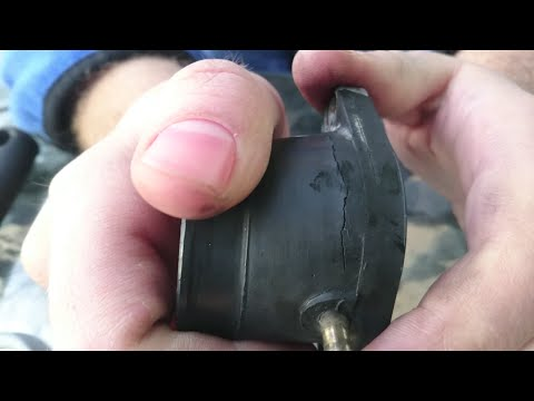 How to fix a motorcycle air leak caused by damaged boots