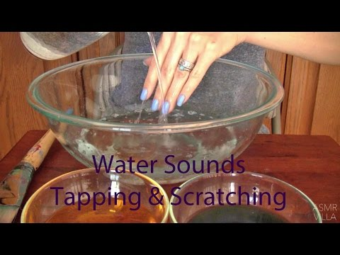 ASMR * Tapping & Scratching * Theme: Water Sounds * Fast Tapping * No Talking * ASMRVilla