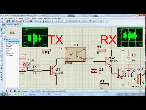 Voice transmitter and receiver circuit