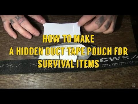 How To Make A Duct Tape Survival Belt Pouch