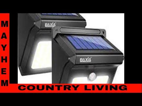 New Baxia Solar Lights