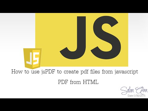 Episode #5: How to use jsPDF to create pdf file using javascript