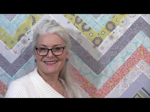 How to make an Easy Chevron Quilt