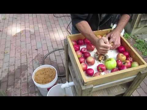 Whizbang Cider Part 1—Grinding Apples To Mash